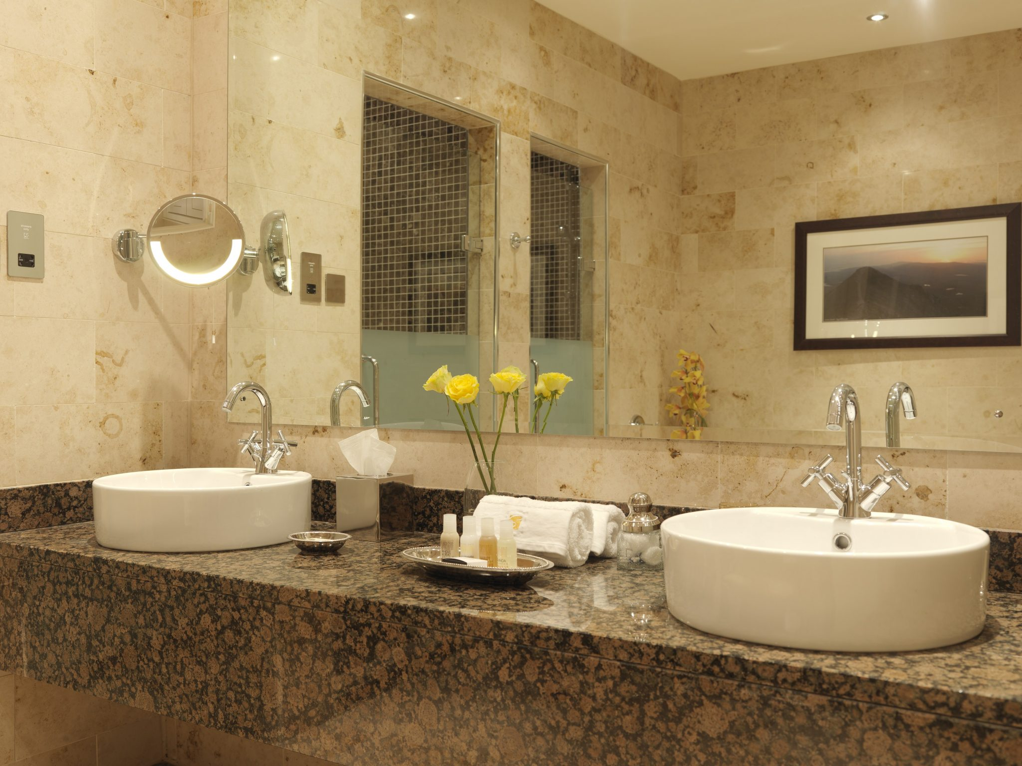 Bathroom at the amazing solis lough eske castle ireland