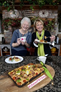 Two Northern Ireland greats, Dame Mary Peters and well-known chef Jenny Bristow have teamed up with Tourism Northern Ireland to get the Year of Food and Drink 2016 off to a tasty start. January is Breakfast Month and chef, Jenny Bristow shared her delicious take on a healthy Ulster Fry with Dame Mary, which included local produce like Denny's Jumbo pork sausages, Fermanagh Black Bacon, Ballyeamon eggs, Neill's Soda Bread, Hughes stuffed mushrooms and Ditty's potato bread. Don't forget that Friday 29th January is Ulster FRYday so join the fun on social media by posting a photo of your Ulster Fry using the hashtag #UlsterFRYday and you could be in with a chance of winning an overnight break and breakfast for two in the 5* Culloden Hotel - for more information visit www.discovernorthernireland.com/ulsterfryday. For more information on Northern Ireland's Year of Food and Drink go to www.discovernorthernireland.com/yearoffoodanddrink2016 and to find out more about Jenny's recipe go to www.jennybristow.com.