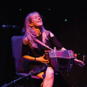 World-acclaimed accordionist Sharon Shannon who will be making her first appearance live at Lanyon Hall in Cookstown on Saturday March 5.