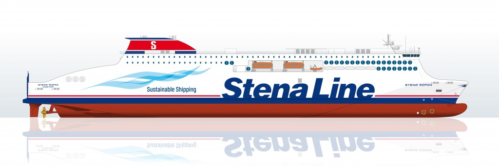 Drawing of one of the new Stena Line RoPax vessels.