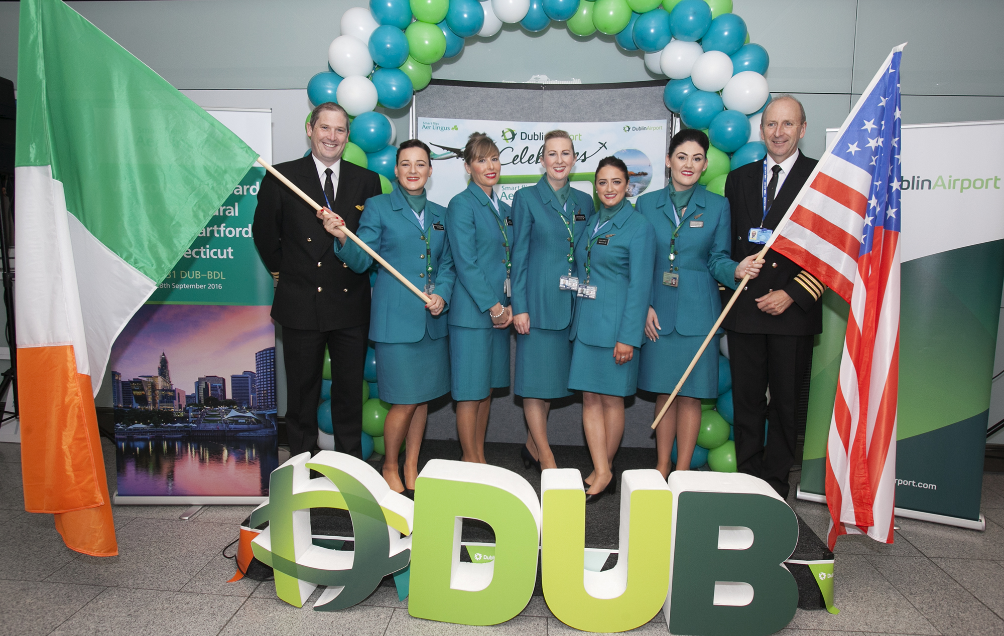 Aer Lingus' Inaugural Flight from Dublin to Hartford Takes Off