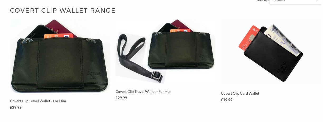 COVERT CLIP TRAVEL WALLET