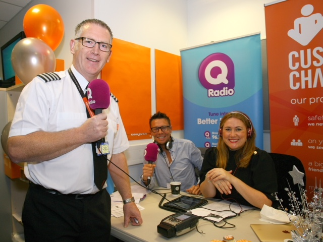 easyJet and Q Radio team up to celebrate 20 years in Belfast