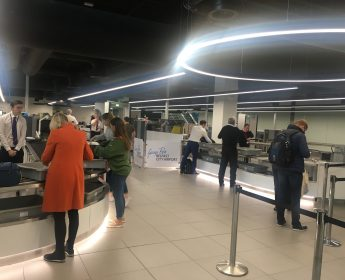 shows Security check at Belfast City Airport