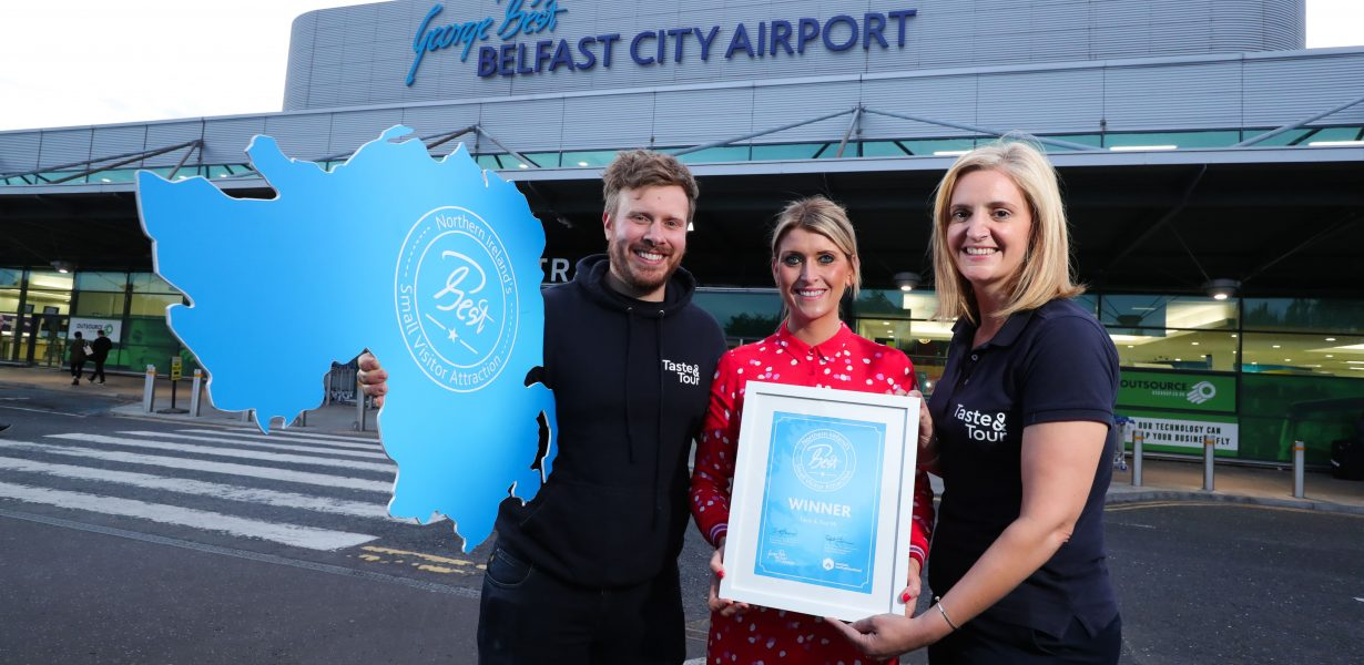 TASTE AND TOUR NAMED 'NORTHERN IRELAND'S BEST  SMALL VISITOR ATTRACTION'